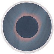 Solar Eclipse, As Seen Above Madras, Oregon, U.s. By Nasa 4 Round Beach Towel