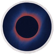 Solar Eclipse, As Seen Above Madras, Oregon, U.s. By Nasa 6 Round Beach Towel