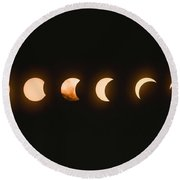 Solar Eclipse  Baily S Beads Round Beach Towel