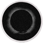 Solar Eclipse By Hinode Observes, Nasa 2 Round Beach Towel