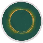 Solar Eclipse By Hinode Observes, Nasa 4 Round Beach Towel