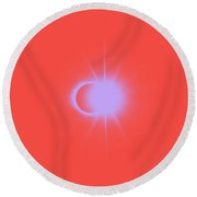 Solar Eclipse, Diamond Ring 2a Round Beach Towel