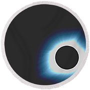 Solar Eclipse In Totality 6 Round Beach Towel