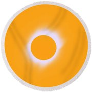 Solar Eclipse Of 2017 Poster 7 Round Beach Towel
