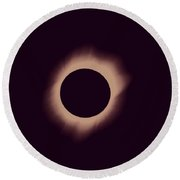 Solar Eclipse Of 2017 Poster Round Beach Towel
