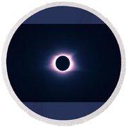 Solar Eclipse, Saros Cycle Round Beach Towel