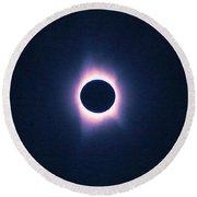 Solar Eclipse, Saros Cycle Painting Round Beach Towel