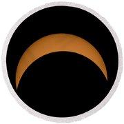Solar Eclipse2 Round Beach Towel