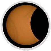 Solar Eclipse3 Round Beach Towel