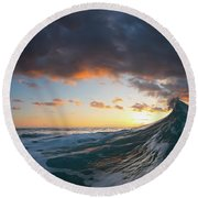 Solar Eruption. Round Beach Towel