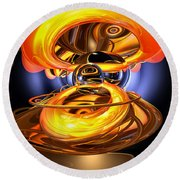 Solar Flare Abstract Round Beach Towel