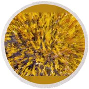 Solar Furnace Round Beach Towel