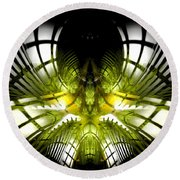 Solar Greenhouse Round Beach Towel