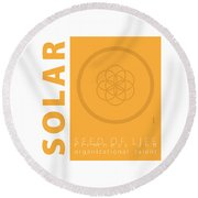 Solar Plexus Chakra Series Three Round Beach Towel