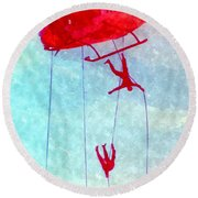 Soldiers In The Sky Round Beach Towel