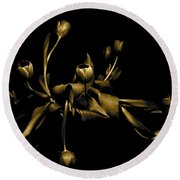Solid Gold Round Beach Towel