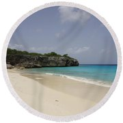 Solitary Beach Round Beach Towel