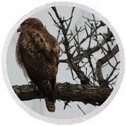 Solitary Sentinel Round Beach Towel