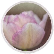 Solitary Tulip Round Beach Towel