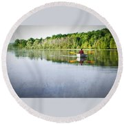 Solitude On Susan Lake Round Beach Towel