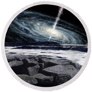 Some Galaxies Have Powerfully Active Round Beach Towel