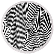 Something Approaching Round Beach Towel
