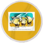 Something Clicked. Round Beach Towel