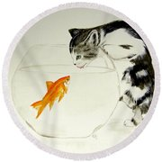 Something Fishy Round Beach Towel