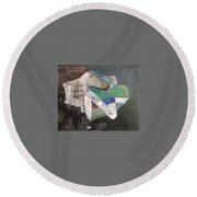 Something From Outer Space Round Beach Towel