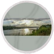 Something In The Water Round Beach Towel