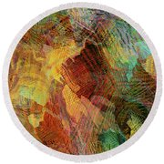 Something Sweet And Spicy Round Beach Towel