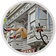 Something To Find Only The In The Haight Ashbury Round Beach Towel