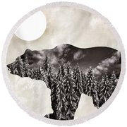 Something Wild Bear Round Beach Towel