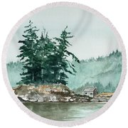 Sometimes A Great Notion Round Beach Towel