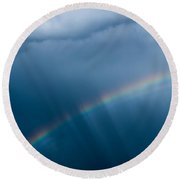 Somewhere Over The Rainbow Round Beach Towel