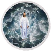 Son Of Man Round Beach Towel