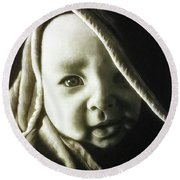 Son Round Beach Towel