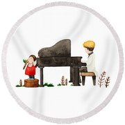 Song For You Round Beach Towel