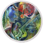 Song Of Borrowed Time Round Beach Towel