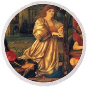 Song Of Love 1877 Round Beach Towel