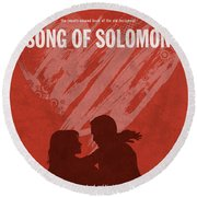 Song Of Solomon Books Of The Bible Series Old Testament Minimal Poster Art Number 22 Round Beach Towel