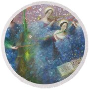 Song Of The Goddess Natura Round Beach Towel