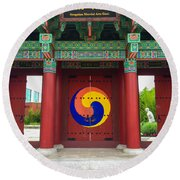 Songahm Gate Round Beach Towel
