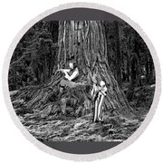 Songs In The Woods Round Beach Towel