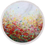 Songs Of Spring 3 Round Beach Towel
