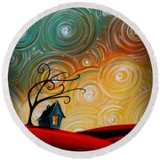 Songs Of The Night Round Beach Towel by Cindy Thornton