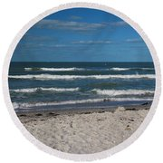 Songstress Round Beach Towel