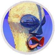 Songye Kifwebe Mask Round Beach Towel