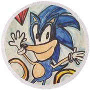 Sonic The Hedgehog Round Beach Towel