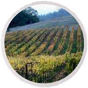 Sonoma County Vineyards Near Healdsburg Round Beach Towel